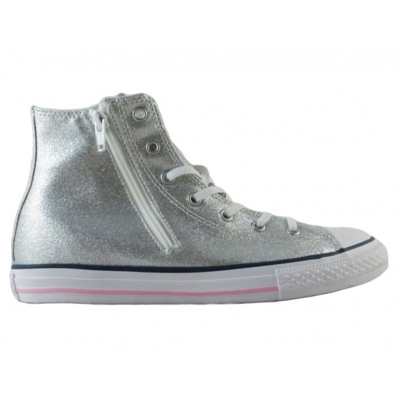Converse All Star Sneakers Alte Donna HI Canvas Side Zip 648506C