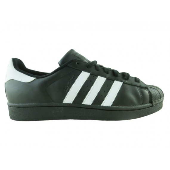 Adidas Sneakers Uomo Superstar Foundation Black-White B27140