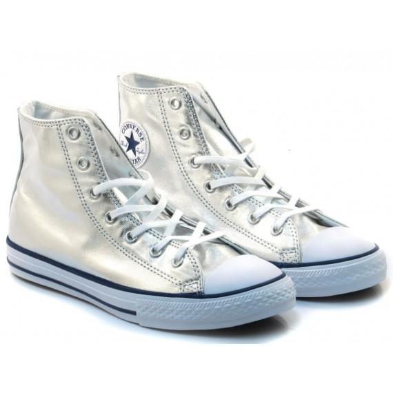Converse All Star Sneakers Alte Bambini CTAS HI Silver