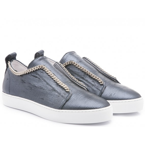 Stokton Sneakers Slipon Donna Gong Summer Nero