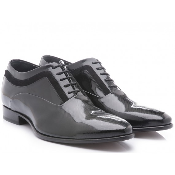 Carlo Pignatelli Men's Classic Shoes Patent Black Leather 34Z 7924