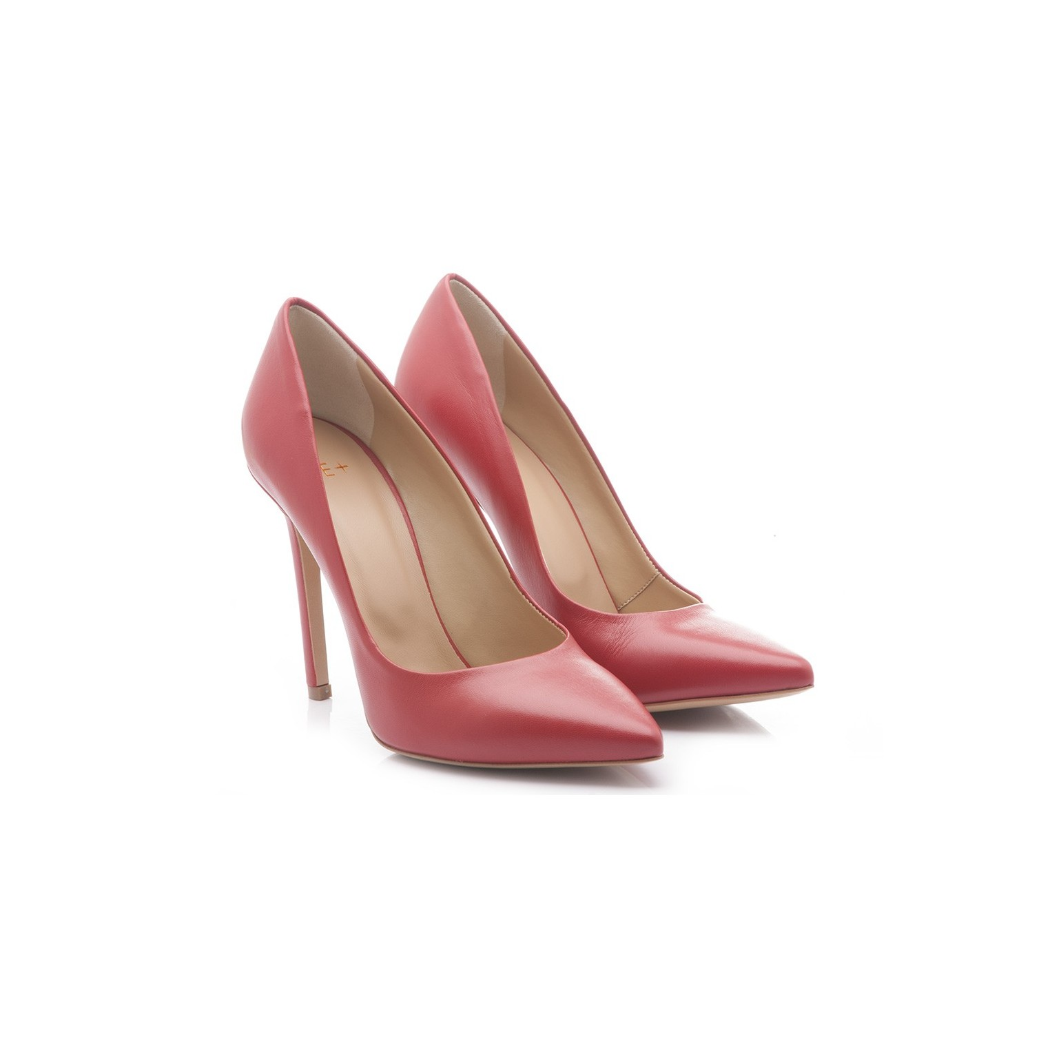 ME+ Women's Shoes Decolletè High Heels Leather Red JH019