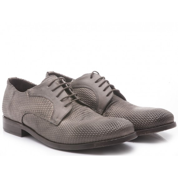 Pawelk's Men's Classic Shoes Rombo-Tuffato Taupe Leather Sole