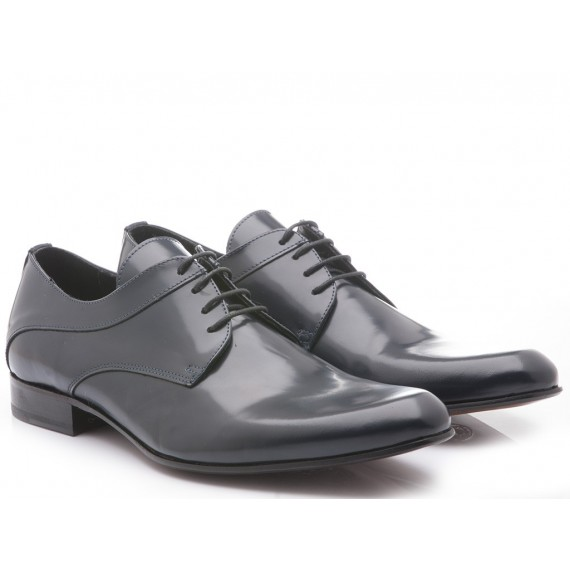 Eveet Men's Classic Shoes Blue Leather