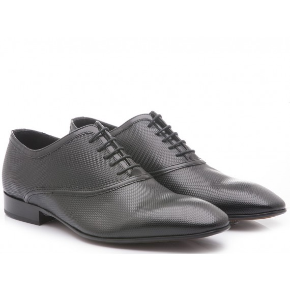 Eveet Men's Classic Shoes Black Leather