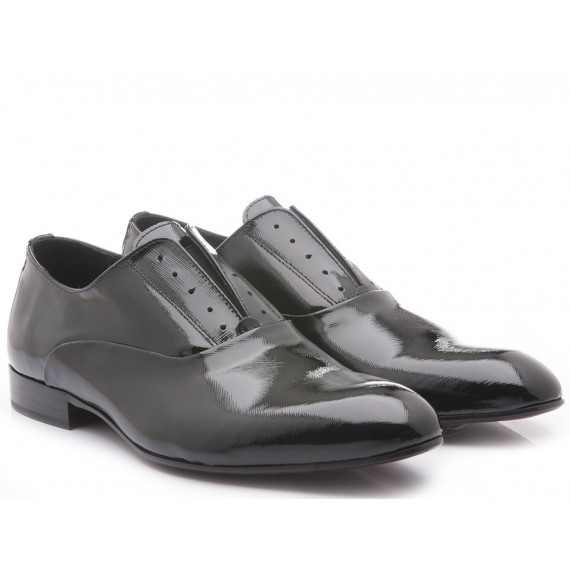 Eveet Men's Classic Shoes Patent Black Leather