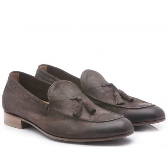 Franco Fedele Men's Shoes Loafers Venus Dark Brown Suede