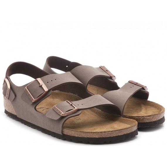 Birkenstock Sandalo-Ciabatta Uomo Pelle Moka