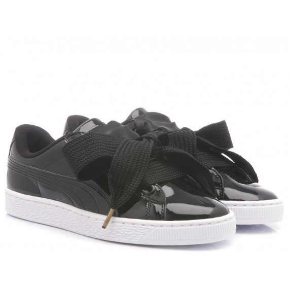 Puma Sneakers Donna Basket Heart Patent Wn's Black