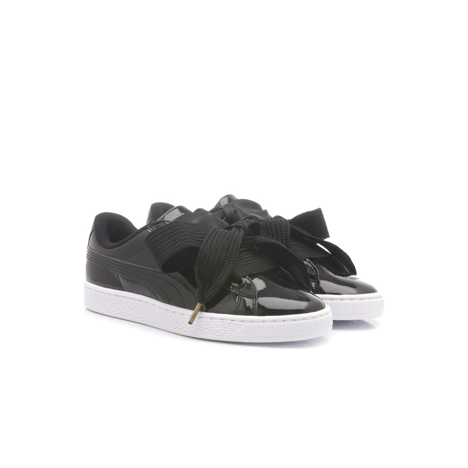 separation shoes f16ee a9eb2 Puma Women's Sneakers Basket Heart Patent Wn's Black