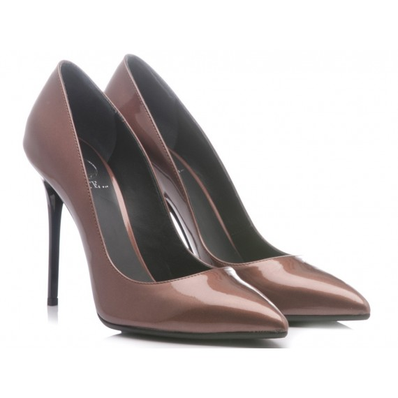 Q-Este Woman's Shoes Decolletè Patent Leather Onion 9552L