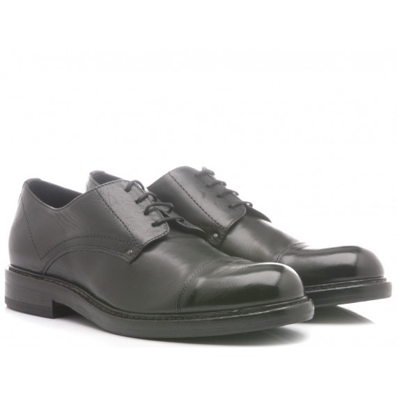 Hundred/100 Men's Classic Shoes Black Leather M880-08