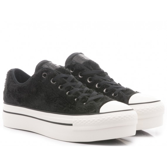 Converse All Star Sneakers Basse Donna CT AS Platform OX Velluto Black