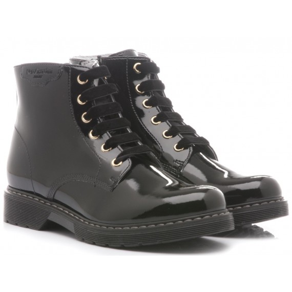 Nero Giardini Children's Ankle Boots Patent Black Leather