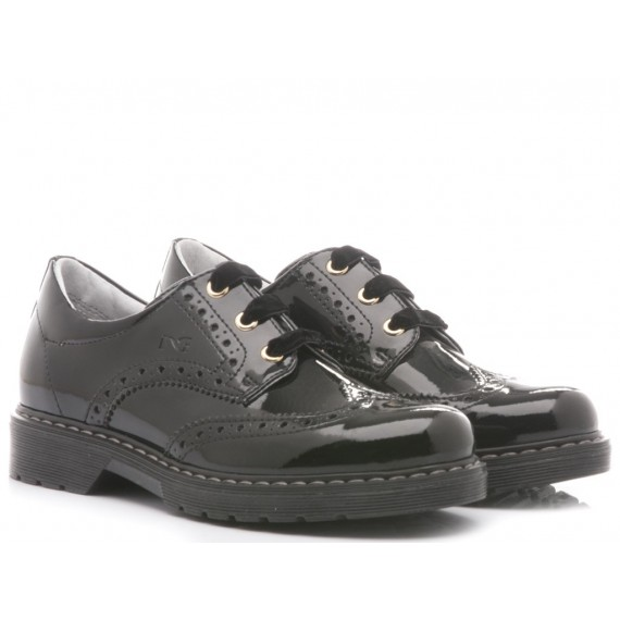 Nero Giardini Children's Shoes Patent Black Leather