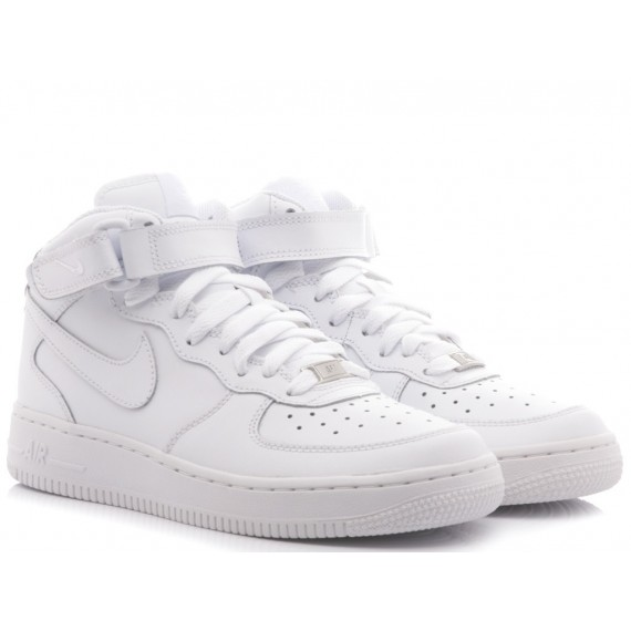 Nike Sneakers Bambini Air Force 1 Mid (GS) White 314195-113