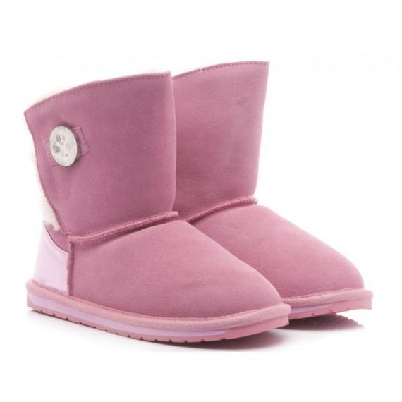 EMU Children's Ankle Boots Denman Kids Suede Pink
