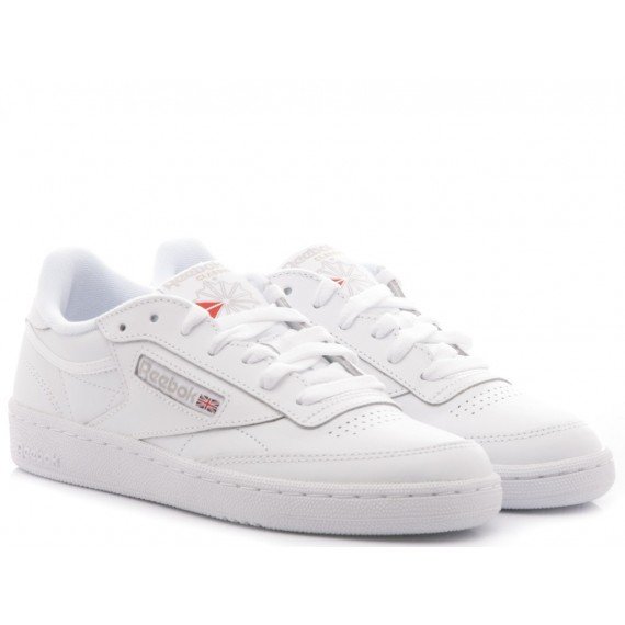 Reebok Sneakers Donna Club C 85 Pelle Bianco BS7685