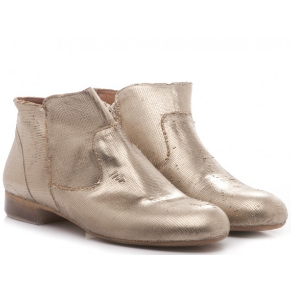 Kammi Women's Shoes Ankle Boots Leather Gold 110