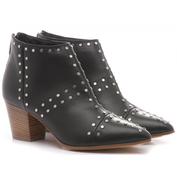 Janet & Janet Women's Ankle Boots Mid Heels Leather 41252