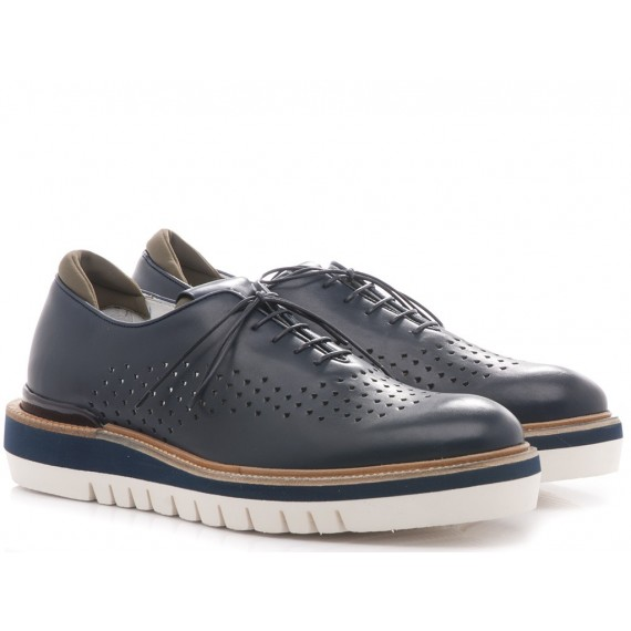 Paciotti 4US Men's Sneakers-Shoes Leather Navy RRZU2FMB
