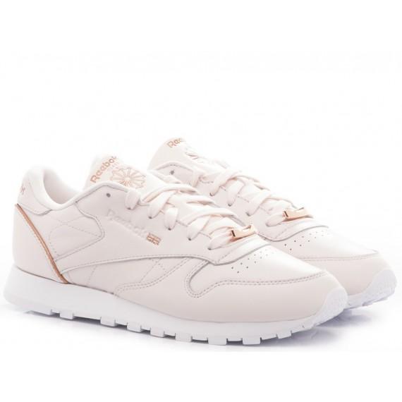 Reebok Sneakers Donna CL LTHR Pelle Rosa BS9880