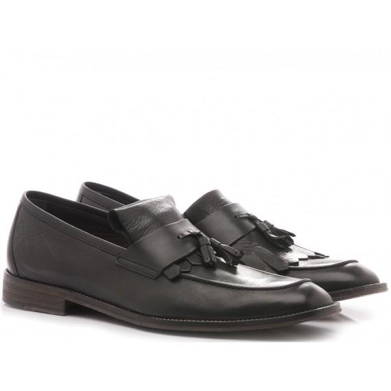 Franco Fedele Men's Loafers Black Leather 6231