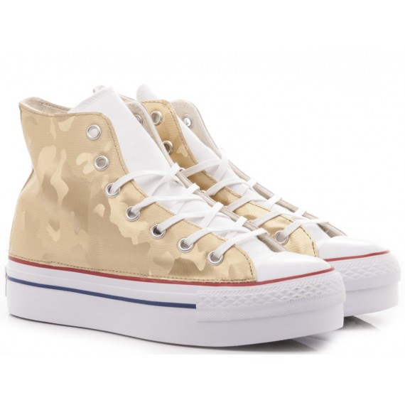 Converse All Star Sneakers Alte Donna CTAS Platform Canvas 560453C