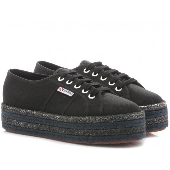 Superga Women's Sneakers Wedge Heel 2790 COTOCOLORPEW Black