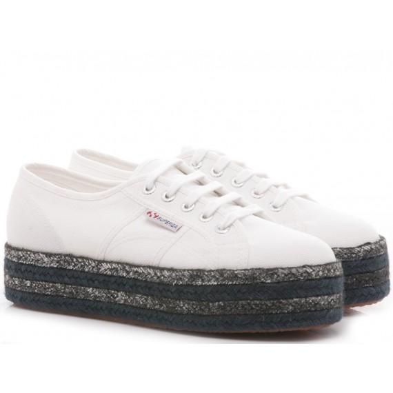 Superga Women's Sneakers Wedge Heel 2790 COTOCOLORPEW White