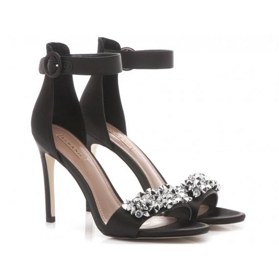 Albano Women's Sandals High Heels 2798 Black Satin
