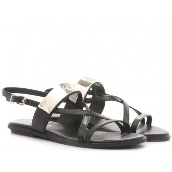 Tommy Hilfiger Women's Sandals Flat Black