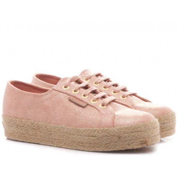 Superga Women's Sneakers Wedge Heel 2730 Tydye Salmon