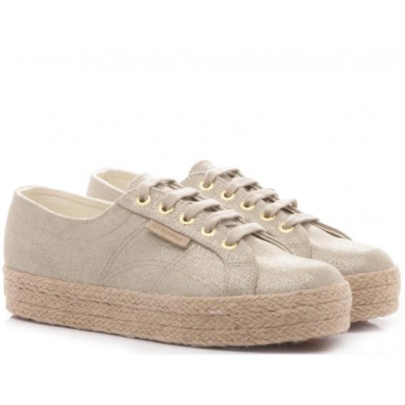 Superga Women's Sneakers Wedge Heel 2730 Tydye Beige