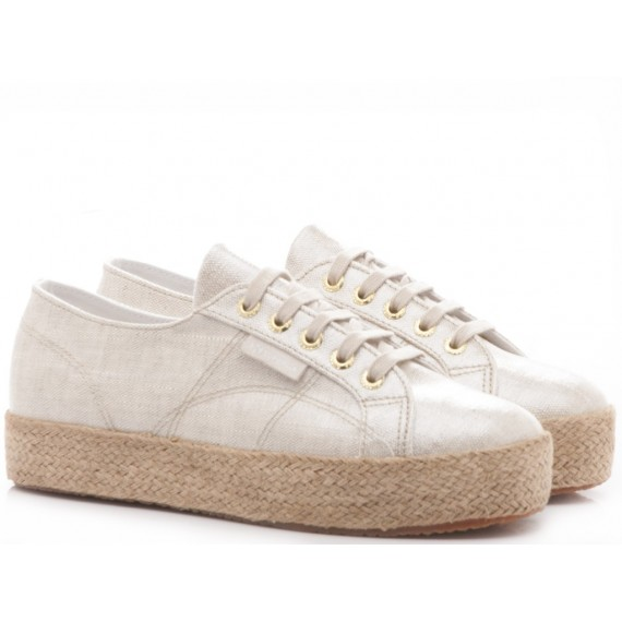 Superga Women's Sneakers Wedge Heel 2730 Linrbrropew Grey