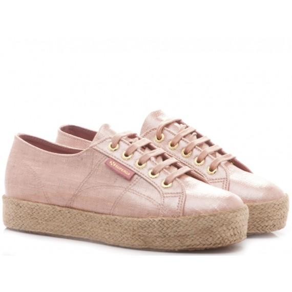 Superga Women's Sneakers Wedge Heel 2730 Linrbrropew Rose