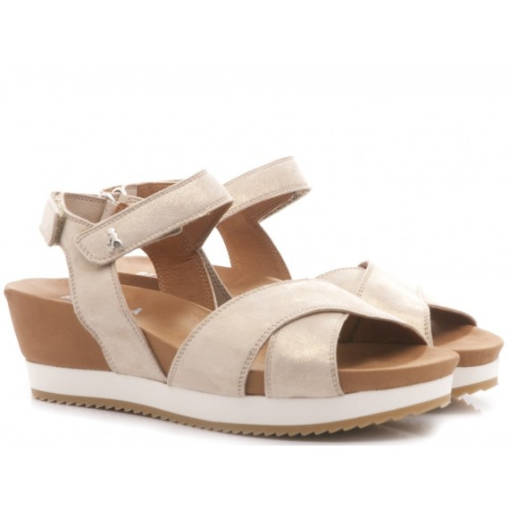 Benvado Women's Sandals Olga Glitter Gold