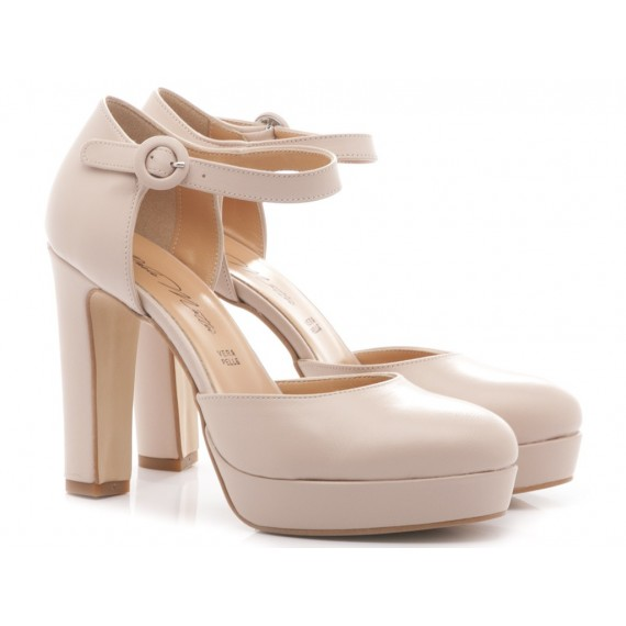 Albano Women's Shoes High Heels 5161 Nude Leather