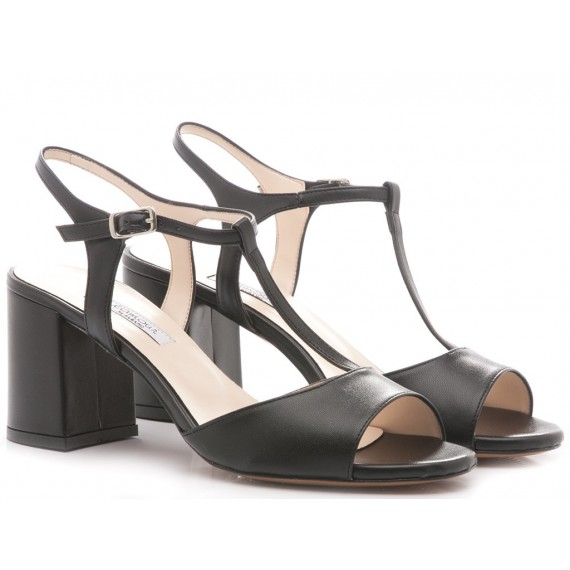 L'Amour Women's Sandals Leather Black 143
