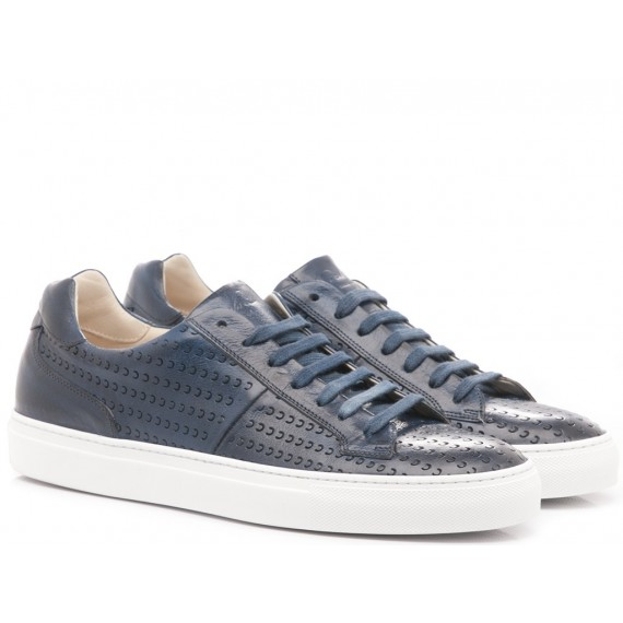 Corvari Scarpe-Sneakers Uomo Pelle Honey Blu 8206