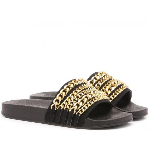 JK London Women's Slippers Black