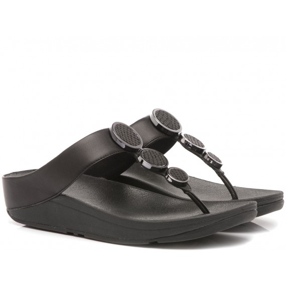 Fitflop Women's Toe Thong Sandals Halo Black