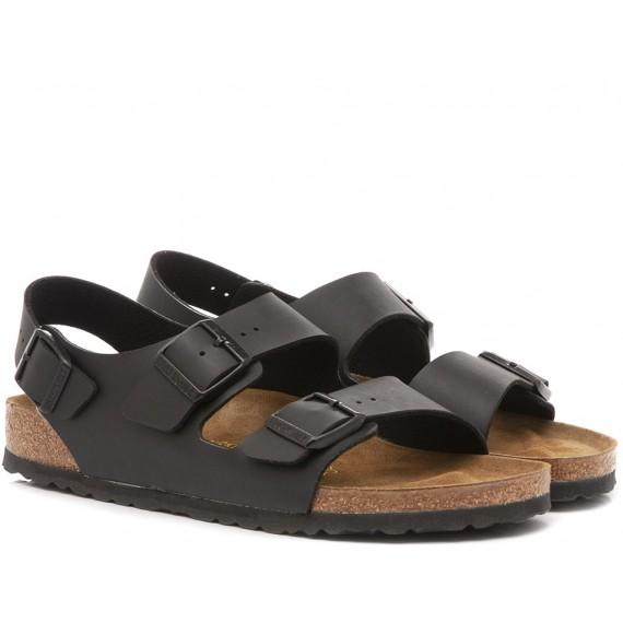 Birkenstock Sandalo-Ciabatta Uomo Pelle Nero