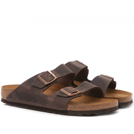 Birkenstock Men's Sandals Arizona Leather Habana
