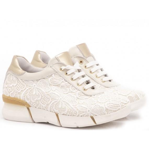 Chiara Luciani Sneakers Bambina Pizzo Sabbia