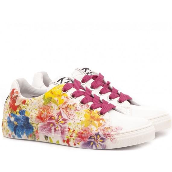 Be Kool Sneakers Bambina Pelle Fiori