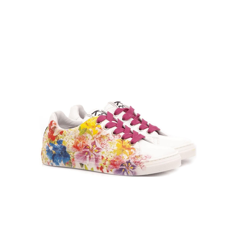 Be Kool Girls Sneakers White Leather