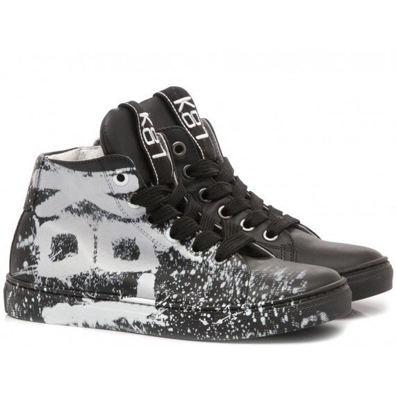 K87 Sneakers Bambino Pelle Tattoo Nero