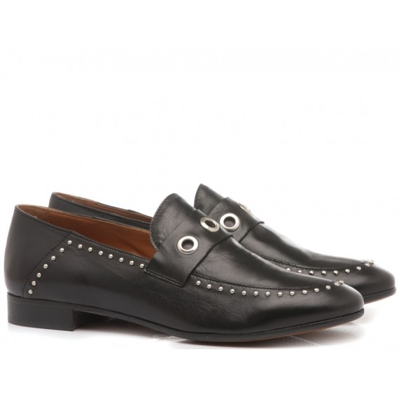 MAT:20 Women's Loafers Leather Black 3372