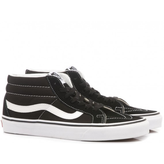 Vans Sneakers Uomo Sk8-Mid Reissue Black-White VN0A391F6BT1